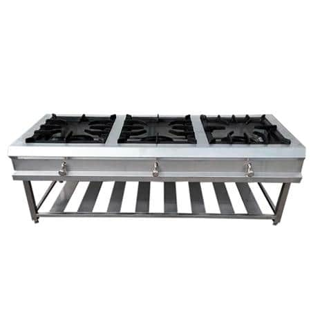 Fornillon de 3 hornillas  en acero inoxidable