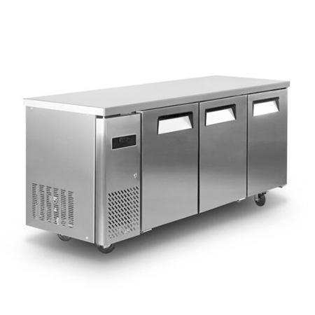 Mesa refrigerada - 3 puertas, 102 Kg.