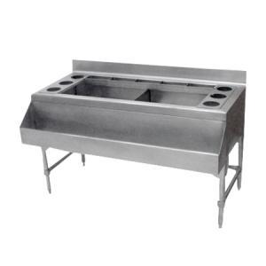 Caja de hielo para cantinero en acero inox