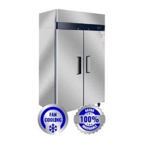 Cámara frigorífica de 2 puertas - FAN COOLING, 1000 Lts.