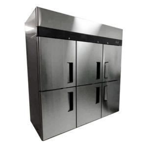 Cámara frigorífica de 6 puertas en acero inox