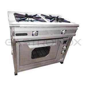 Cocina de 2 hornillas + horno industrial en acero