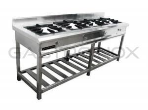 Cocina de 4 hornillas en acero inoxidable