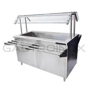 Salad bar en acero inox- ISLA